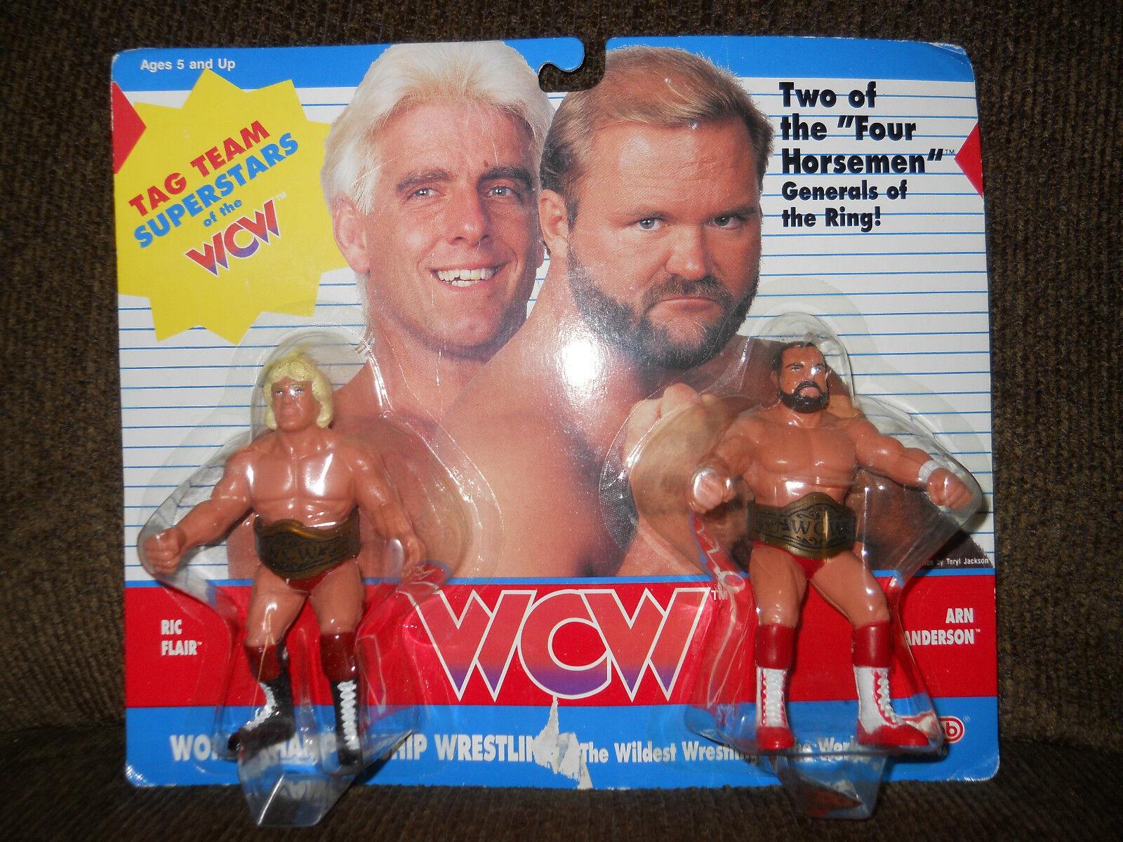GALOOB WCW wwf awa RIC FLAIR ARN ANDERSON UK editn hornby,moc 4 four horsemen