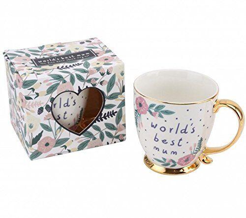 Mums Birthday//Christmas Gift Idea World/'s Best Mum Gift Boxed Floral China Mug