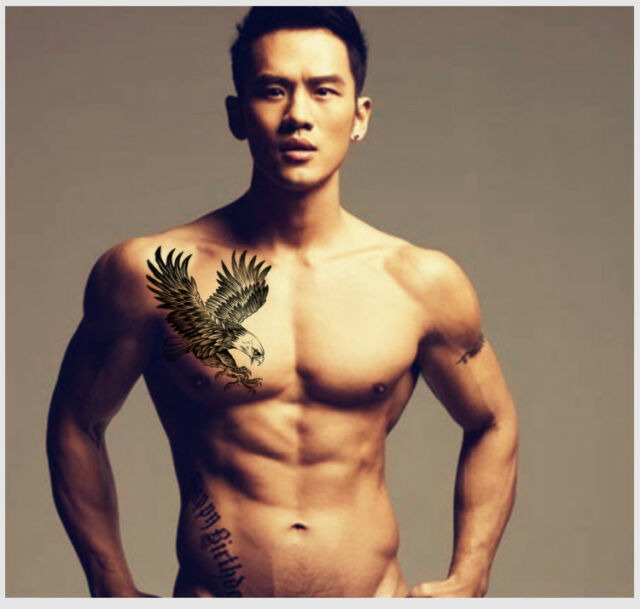 Eagle Waterproof Temporary Body Art Arm Shoulder Chest Tattoo Sticker Man Women