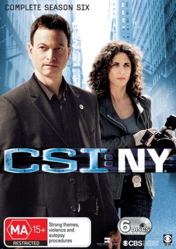 1 of 1 - CSI: NY: Season 6 (DVD, 6-Disc Set)   Region 4 - Good Condition