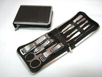9 In 1 Stainless Nail Clippers Nipper Cutter Pedicure Manicure Set Kit Case