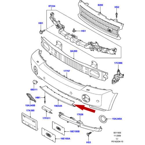 LAND ROVER RANGE ROVER L322 06-09 FRONT LOWER BUMPER DEFLECTOR OEM DXJ500040