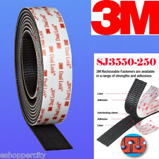 "3M  1"" W x 5' Dual Lock SJ3550 Type 250 VHB Black Reclosable Fastener In/Outdoor"