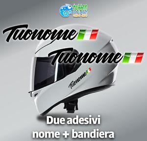 Adesivi-Nome-e-Bandiera-casco-bicicletta-bike-moto-kart-flag-sticker-nero