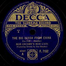 BOB CROSBY'S BOB CATS  The big crash from China / Five Point Blues  78rpm  X1319