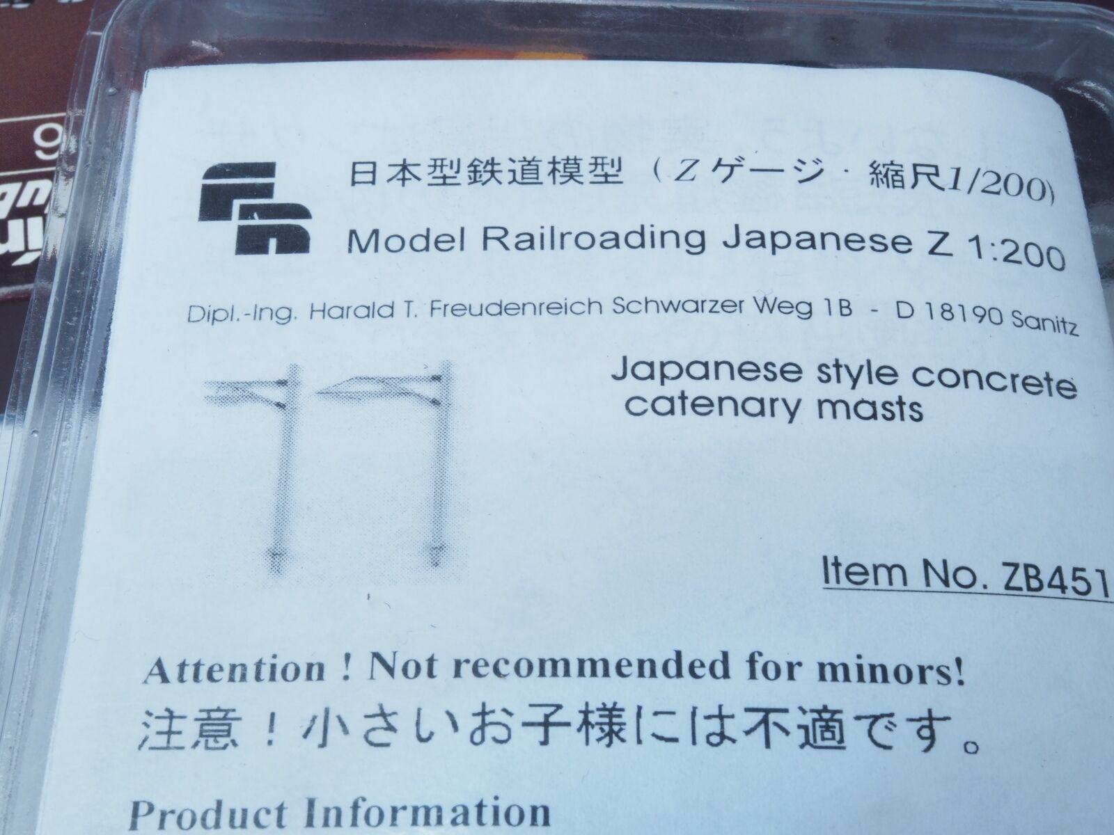 Fr Zb451 Nuovo Stile Giapponese 12 Catenaria Mast Kit Scala 1 200