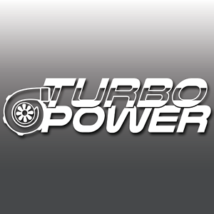 TURBO-POWER-Funny-Car-Van-Window-Bumper-Vinyl-Decal-Sticker-Euro-DUB-JDM-Boost