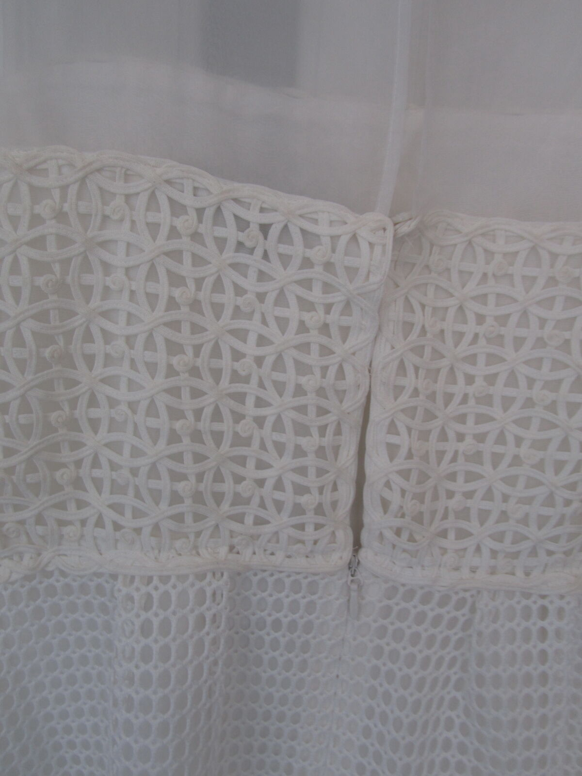 aa665dc2d12b ... NEW WITH TAG WHITE FRENCH CONNECTION SLEEVELESS DRESS IN LACE NET, SZ  14 79b658 ...