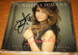CRISTINA-D-039-AVENA-CD-DUETS-AUTOGRAFATO-ORIGINALE-WARNER-5054197932328
