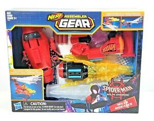 Spider-Man-Into-The-Spider-Verse-Nerf-Assembler-Gear-Build-amp-Blast-Toy-BRAND-NEW