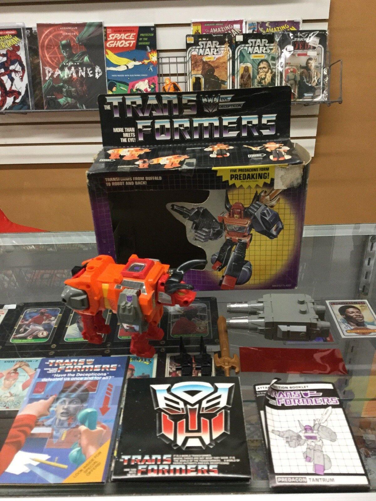 marcas de diseñadores baratos Transformers Takara 1986 Projoacon Tantrum original original original de G1 Con Caja  preferente