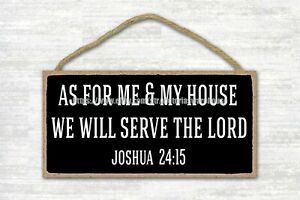 As For Me And My House We Will Serve The Lord Wood Sign Dining Room Wall Decor 722360180481 Ebay