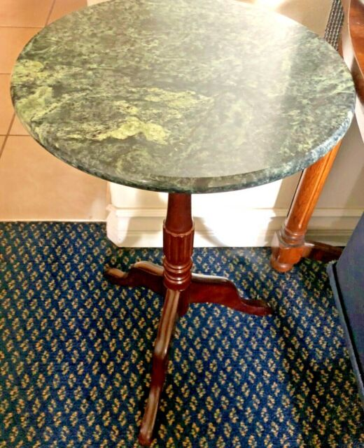Groovy Bombay Company Green Marble Top Wood Plant Stand Vintage Pedestal Table Display Ibusinesslaw Wood Chair Design Ideas Ibusinesslaworg