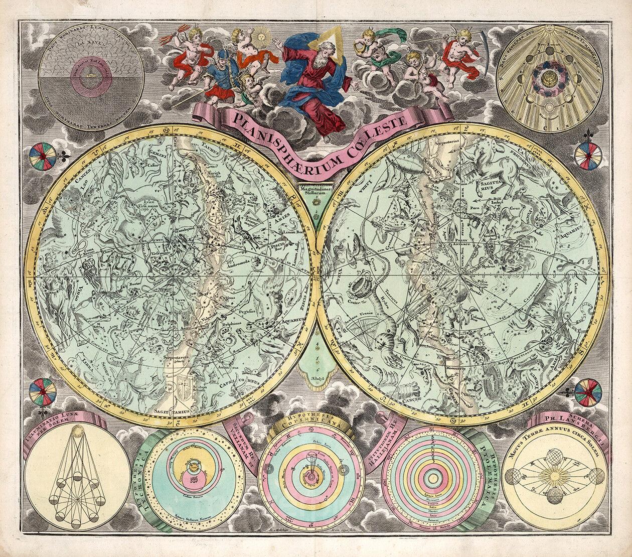 Vintage Map - Planisphere Coeleste 1730