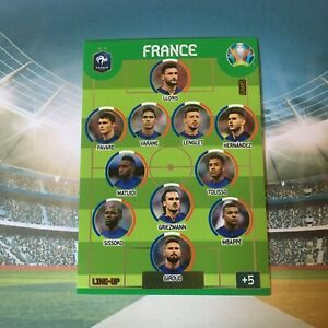 PANINI EURO 2020 ADRENALYN XXL CARD LINE UP FRANCE ROOKIE RC MBAPPE WORLD CUP