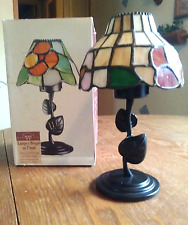Stained Glass Candle Holder Lamp Tiffany Style Tea Light Votive Wilton Co. w/box