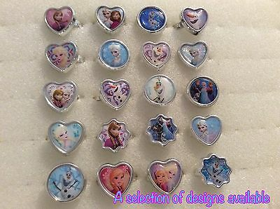 Party Bag Fillers X 12 Rings Frozen Elsa Anna Olaf  Character Requests Taken