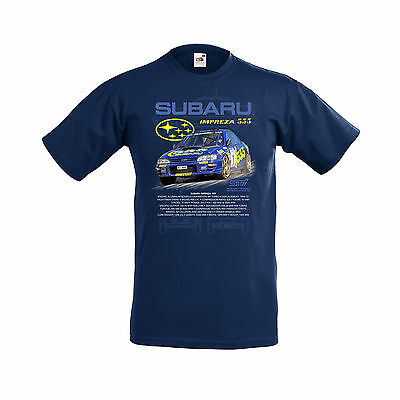SUBARU IMPREZZA 555 WORLD RALLY CAR (McRAE) ADULTS T SHIRT SMALL TO 2XL.NEW