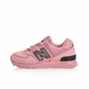 new balance 574 grigio e rosa