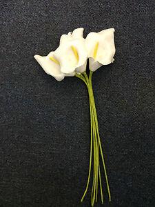 FREE DELIVERY SHAPE /& COLOUR FOAM CALLA LILIES FLOWERS MULTIPLE SIZES