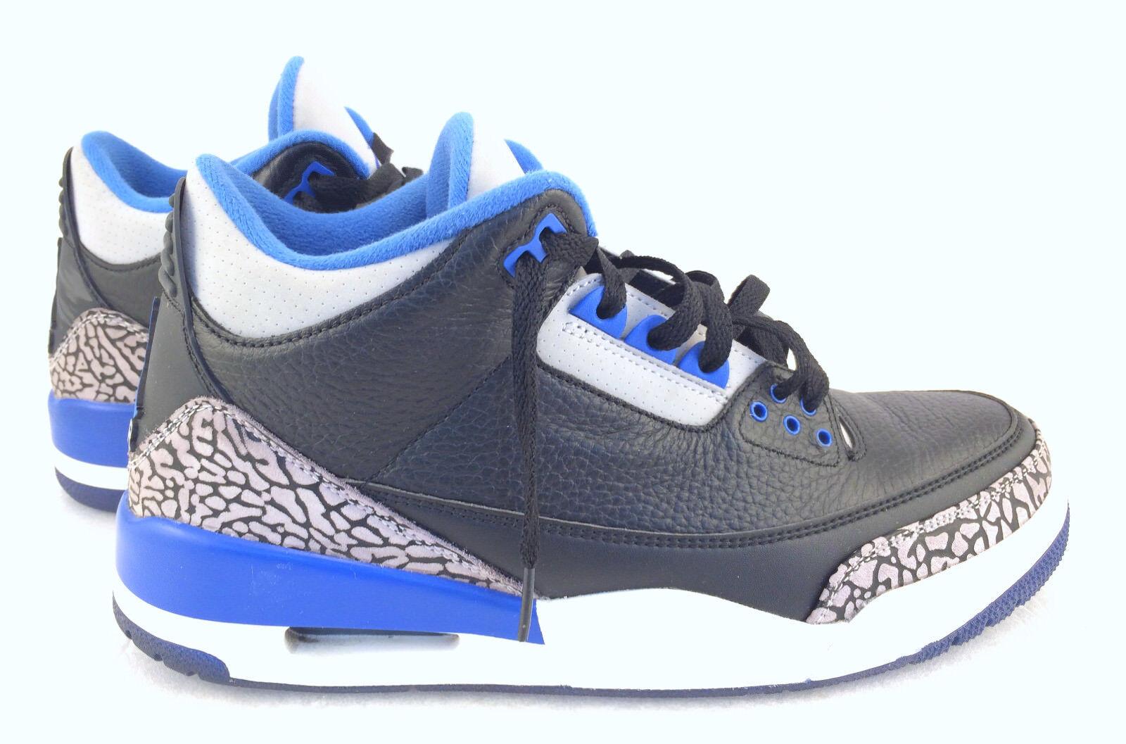 new concept 2c89e 3122b ... buy nike air jordan 3 retro black sport blue wolf grey 136064 007 size  10 9b513