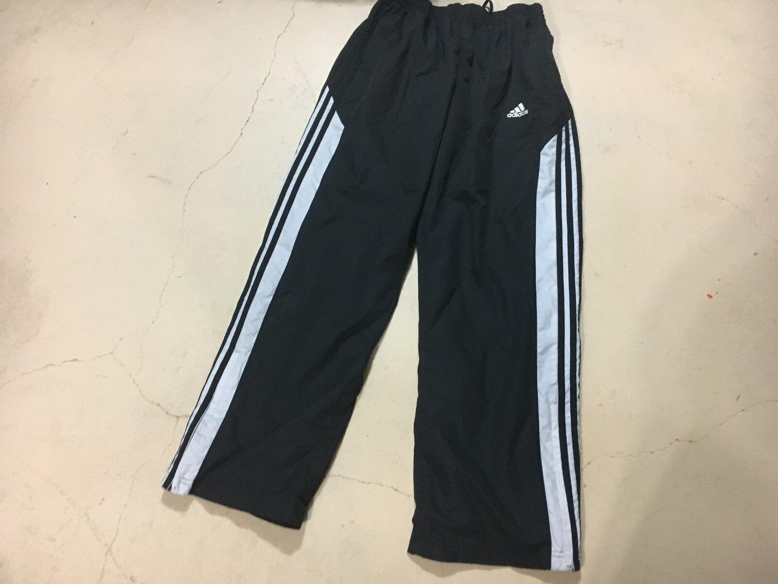 Adidas Hommes Noir & amp;Pantalon blanc.Taille Large / XL LIVRAISON GRATUITE