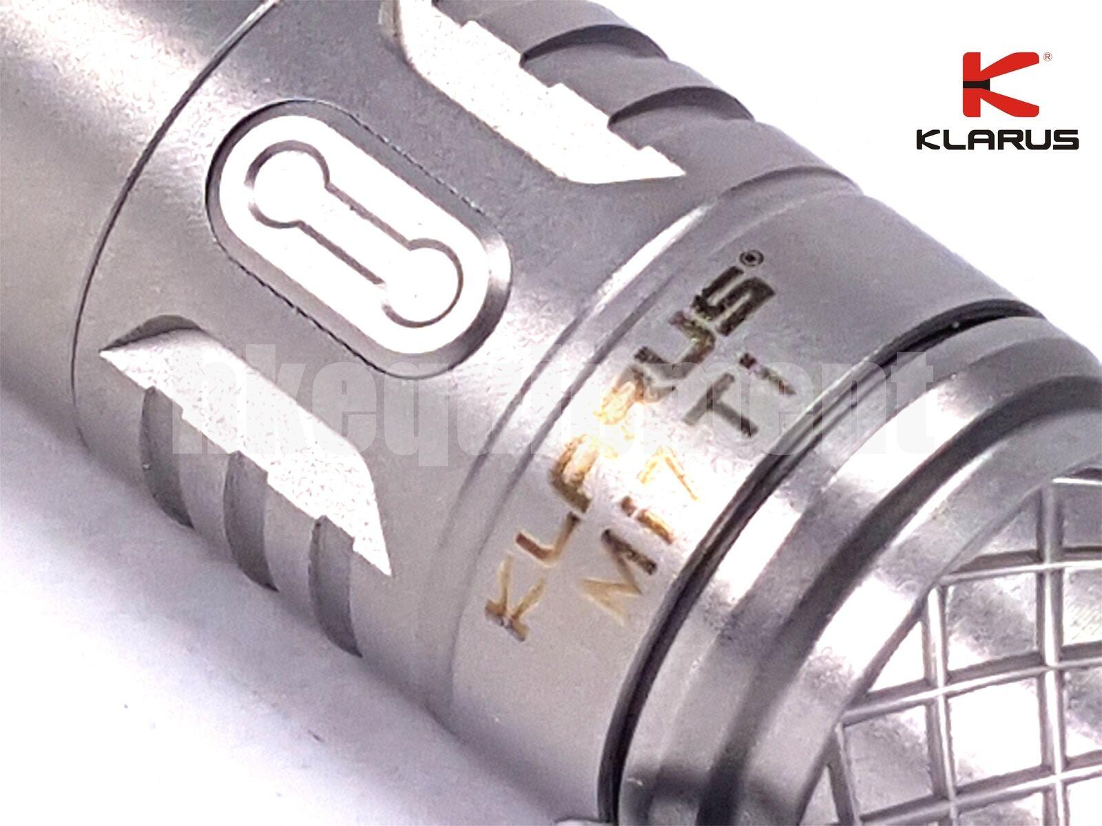 Klarus Mi7 Ti Titanium Cree XP-L HI V3 LED AA 14500 Torch