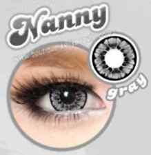 Lentilles de Couleur GRIS Big Eyes NANNY Duree 365j. Filtre Contact UV + Etui