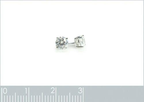 Paire de BOUCLES d/'oreilles puce en ARGENT 925 rhodié et Zirconium 5 mm Neuves