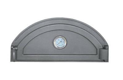 Backofentür Ofentür Pizzaofentür Holzofentür Gusseisen Thermometer Glas 500x450