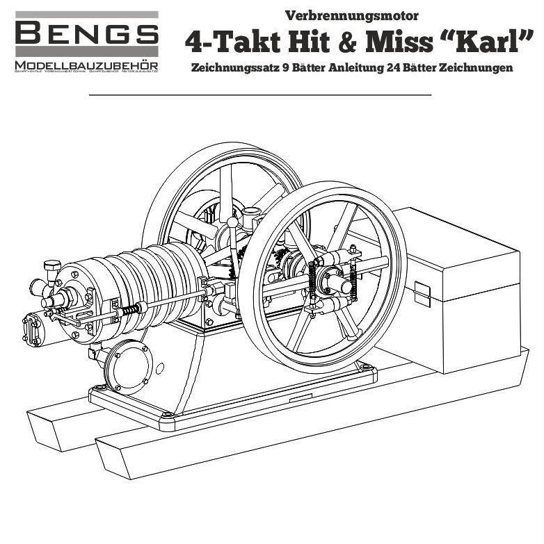 Bauplan Stationärmotor Karl Zeichnungssatz Modellbau Motor Verbrennungsmotor