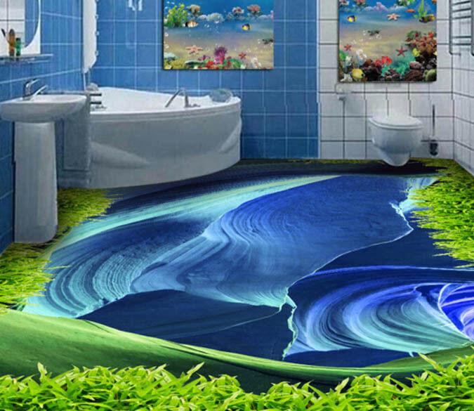3D Hill Blau Texture 89  Floor WallPaper Murals Wall Print Decal AJ WALLPAPER US