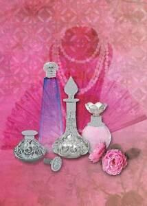 Birthday-Card-Blank-034-Perfume-Bottles-Embossed-Design-034-Size-4-75-034-x-6-75-034-1546