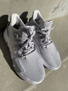 official photos 71a05 841a6 Details about Adidas EQT Bask ADV Mens CQ 2362 Grey Sub Green Knit Athletic  Shoes Size 7