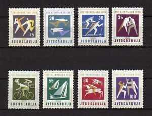 15808) Yugoslavia 1960 MNH New Olympic Games Rome 8v