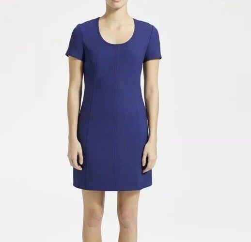 Theory Princess Seam Woherren Dress Größe 8 Blau Classic Faded 2 Short Sleeve