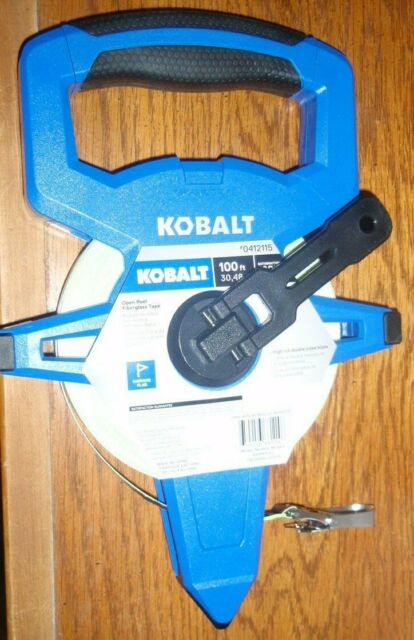 Kobalt 100 ft Long Tape Measuring Tool Double Sided Printing Durable New