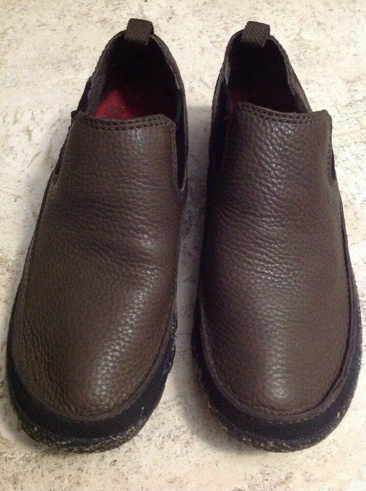 COLUMBIA TerraTrek Brown Slip On shoes Hiking Men's Size 9 Leather NEW