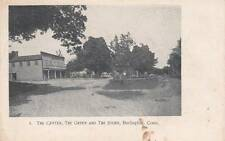 Antique POSTCARD c1906 The Center, Green and Store BURLINGTON, CT Unused 14117