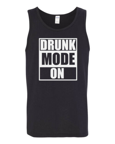 Mens Tank Top Drunk Mode ON #2 Shirt Vacay Vacation T-Shirt Oktoberfest Funny