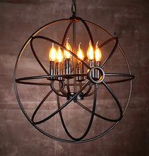 Vintage Industrial Metal Globe Hanging Fixture Ceiling Chandelier Lighting