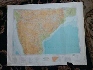 1967-Map-of-Bombay-India-USSR-edition-Madras-Hyderabad-Calcutta-Poona