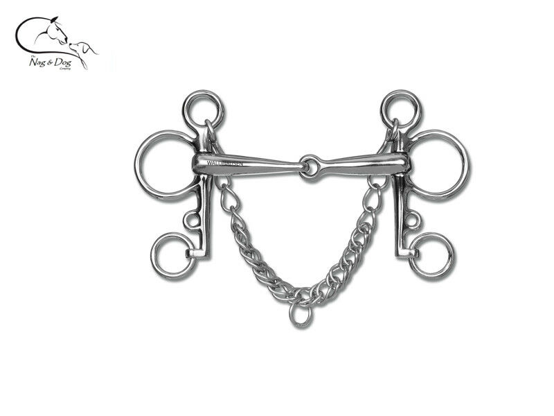 Waldhausen Jointed Stainless Steel   PELHAM HORSE BIT 4.25  - 5.5  FREE DELIVERY  order online