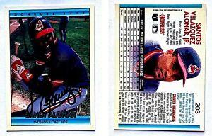 Sandy-Alomar-Jr-Signed-1992-Donruss-203-Card-Cleveland-Indians-Auto-Autograph