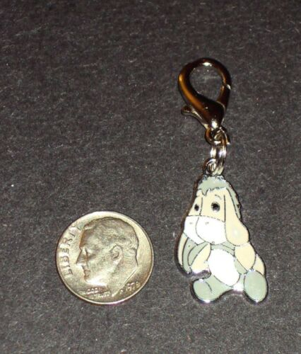 New Pooh Eeyore Enamel Charm Zipper Pull Clip Grays Cartoon TV Movie Characters
