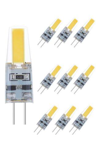 10x NuLoXx LED Stiftsockellampe COB 2W 827 2700K 180lm warmweiß 220-240V G4 360°