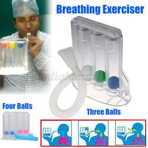 Erwachsene Atemtrainer 3/4 Kammer-System Lungentrainer Spirometer Atemtraining