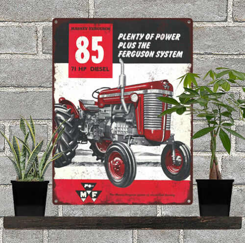 "MASSEY FERGUSON MF85 DIESEL TRACTOR Farm Man Cave Metal Sign 9x12/"" 60659"