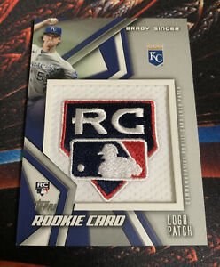2021 Topps Series 2 - Brady Singer - Rookie Card Logo Patch Relic ROYALS