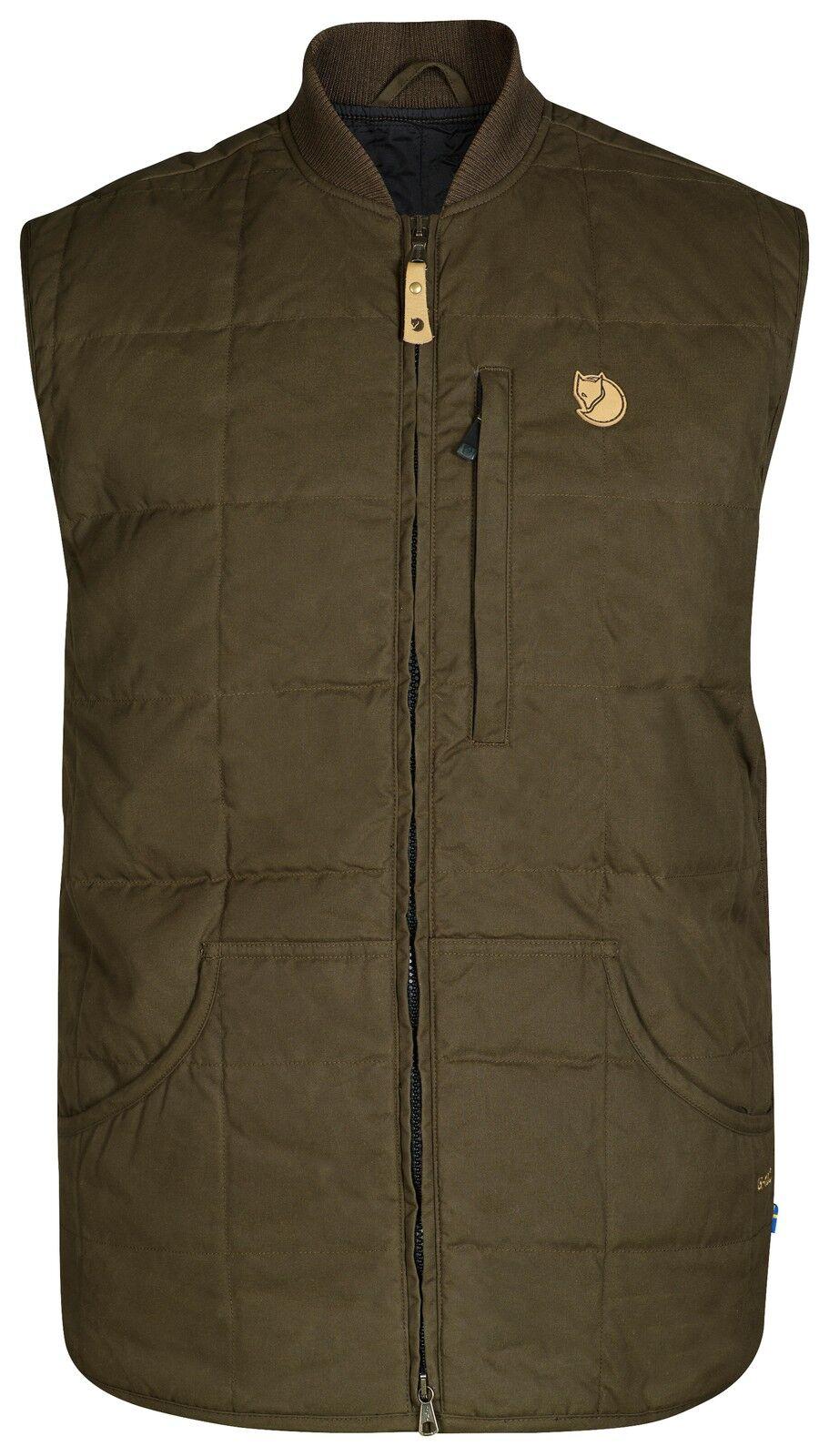 Fjällräven Grimsey Vest 90501 dark oliv G-1000 Weste Outdoorweste Jagdweste